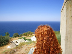 Ikaria 011 (isl_gr (Mnesterophonia)) Tags: girl hair mediterranean beautyconcealed ikaria  aegean replacement greece mane theisland   geniiloci chercherlafemme flamingmane top20greece blistercopper