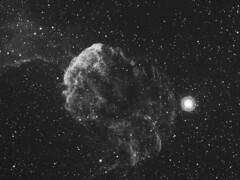 IC443 (-mrh) Tags: nebula astrophotography halpha st2000xme ic443 e130 Astrometrydotnet:status=solved Astrometrydotnet:version=9649 Astrometrydotnet:id=alpha20081190228858