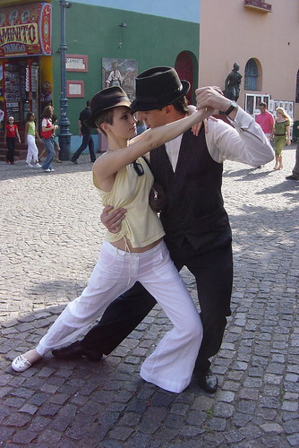 Being a tourist (but I danced with this guy for real!) by Dona Juanita