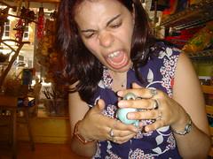 July 9, 2005 (Lodigs) Tags: blue pet bird biting budgie parakeet nibbler