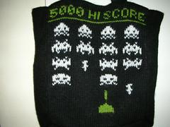 Space Invaders tote bag - by brendaj