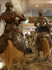 Dealin' wit' da rabble, Olde Skool! (rmwhittaker1012000) Tags: horses yorkshire leeds battle medieval knight armour middleages horseback armoury royalarmouries platemail leedsroyalarmouries