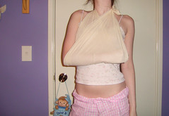 Ouchies (Nikita Kashner) Tags: sore shoulder injury pain ouchie kitta sling arm