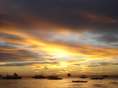 "Vanilla Sky pt. 2 (""B"") Tags: sunset sea sky water clouds boat sailing philippines sail boracay"