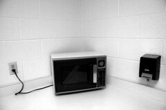 microwave in the corner - by limonada