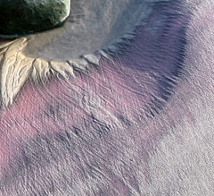 color and texture (jurvetson) Tags: pink beach coast sand purple bigsur pfeifferbeach pfeifferstatepark