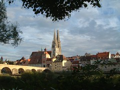 late summer view of the Regensburger dom