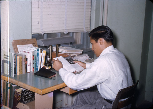my father at his desk