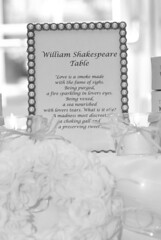 Shakespeare table