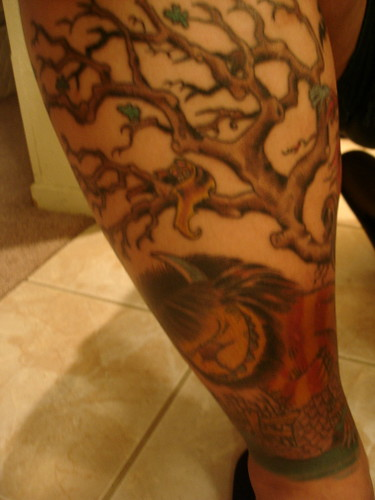 where the wild things are leg tat