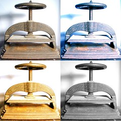 Four Views of a Book Press by 802