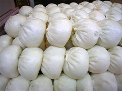 damaged beauty (yewco) Tags: white hongkong many chinese dimsum buns damaged
