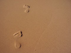 Footprints in the Sand (Thiru Murugan) Tags: beach wow gnome footprints murugan thiru i500 thirumurugan thiruflickr