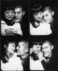We met on Flickr. Thanks, Ribity. (quasistoic) Tags: sanfrancisco love photobooth cuteness museemecanique claudine ccdd bugbears quasisotic