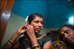 Hijra beauty contest - earrings - Chennai (Maciej Dakowicz) Tags: travel india beauty sex madras contest transvestite chennai gender transsexual shemale ches hijra transsexuals aravani hijras hizra