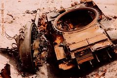 Destroyed tank. (DigitalTribes) Tags: interestingness war peace tank iraq 1991 destroyed dt desertstorm digitaltribes interestingness276 operationdesertstorm markoneil i500