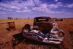 Bad Lands (DigitalTribes) Tags: old travel usa car badlands wreck dt digitaltribes markoneil