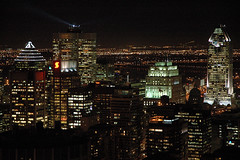 Montreal - Downtown at Night