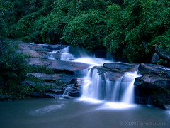 The waterfall of my dreams (Xavier Donat) Tags: longexposure travel blue nature water trekking thailand waterfall fantastic searchthebest quality explore coolpix chiangmai waterblur cascade 34 naturesfinest explored 20012006 goldmedalwinner flickrdiamond ysplix goldstaraward top20greenish