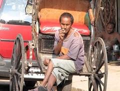 Ricksha wala - Calcutta (Eric.Parker) Tags: street india man flower rickshaw bengal calcutta bidi kolkatta westbengal dec18 golpark rmic wbtotal