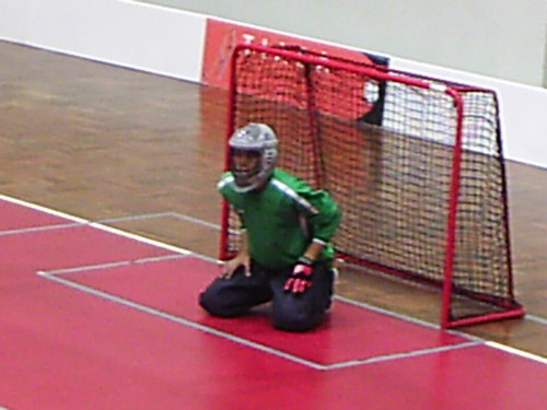 Guarding the goal back in September 2004