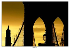 After the Sunset (Arnold Pouteau's) Tags: nyc bridge sunset newyork skyline brooklyn woolworth f25 fromthebridge