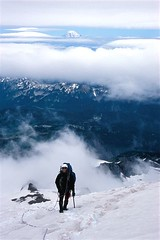 In The Clouds (photo61guy) Tags: mountains climbing rainier mountaineering platinumheartaward
