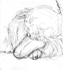 Gesture pencil sketch by Susan Donley