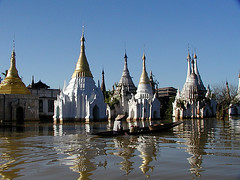 Inle Lake - Temple on the Water (Sam's Exotic Travels) Tags: lake water temple boat sam burma myanmar inle sams travelphotos samsays samsexotictravelphotos exotictravelphotos samsayscom