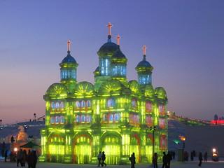 Ice Lantern Church, Harbin, China