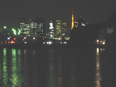 tokyo at night (cronus) Tags: reflection japan night buildings tokyo palace imperial tokyotower