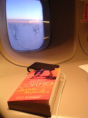 10 hours on a jump seat... (winklerw) Tags: travelling ipod frankfurt flight hong kong taipei paulo coelho eleven minutes b747 jumpseat