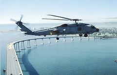 Helicopter over Coronado Bridge by eCoronado.com (Beach Local) Tags: island helicopter coronado coronadobridge coronadoisland