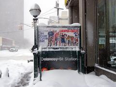 Delancey St Station - Blizzard of 2006 (holycalamity) Tags: nyc snow newyork subway lowereastside mta blizzard delanceystreet essexstreet blizzard2006 blizzard06