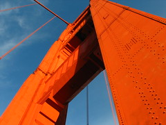 orange bright (pbo31) Tags: ocean sanfrancisco california above city bridge light sky urban orange color texture nature up car northerncalifornia 1 bay photo pattern crossing cross image object patterns famous marin feel towers shapes citylife favorites style objects 101 highway1 pacificocean goldengatebridge goldengate sanfranciscobayarea bayarea headlands sanfranciscobay form shape tone californian us1 upwards baycity thegoldengate thegate coastalhighway metropolitian sanfranciscan famousbridge famousbridges historicbridges