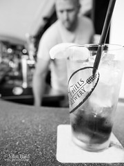 Bartender, Portland, Maine (65695-BW) (John Bald) Tags: summer blackandwhite bar portland restaurant lemon drink beverage maine icedtea nosh bartender sweettea selectivefocus