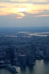 View  from One World Observatory (apardavila) Tags: nyc newyorkcity sunset clouds manhattan hudsonriver seeforever oneworldtradecenter oneworldobservatory