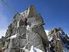 1st Rappel (HendrikMorkel) Tags: mountains alps mountaineering chamonix alpineclimbing arêtedescosmiques arcteryxalpineacademy2015