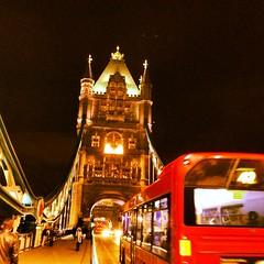 Tower bridge transport (demccarroll) Tags: city bridge motion bus london architecture night towerbridge moving transport