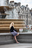 waiting (Sean Garrett (blacktau)) Tags: england woman animal animals female hair europe adult unitedkingdom trafalgarsquare human blonde creatures creature mammals animalia mammalia cityoflondon primates zoology homosapiens chordata hominidae hominini