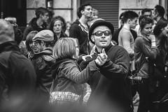 the dancing photographer (o_teuerle) Tags: street bw dresden blackwhite couple photographer dancing paar monochrom tanzen brn dresdenneustadt