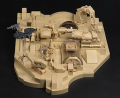 Inspecting the Outpost (Grantmasters) Tags: sand lego space micro outpost