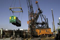 It's kind of heavy ! July 21, 2009 (Yukon Yeti) Tags: railroad white alaska pass railway yukon locomotive ge barge