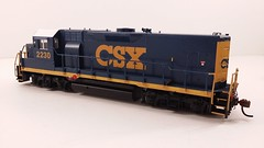 CSX - MATE (Road Slug) #2230 Dark Future Paint Scheme - Former GP35 (Conductors Side) - HO Scale - KATO kit-bash - July 29, 2015 - K. Crawley (dcmkris) Tags: atlas csx hoscale gp402 custompainted darkfuture roadslug mothermate