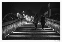 Night walk around the city (Aljaž Anžič Tuna) Tags: 189 189365 365 walk bridge ljubljana night lights walking around city girls twogirls winter cold nightwalk photo365 project365 people onephotoaday onceaday d800 dailyphoto day dof monocrome monochrome nikond800 nikkor nikkor85mm nice 85mmf18 bw blackandwhite black blackwhite beautiful
