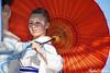 East Flower (Rafemago) Tags: colors umbrella japan geisha dance culture tradition outdoor barcelona barceloneta catalunya catalonia spain canon flickr portrait retrato