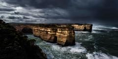 Storm over Loch Ard Gorge (Jos Buurmans) Tags: australia cliff cliffs coastallandscape coastline dark inlets landscape lochardgorge lowkey moody nature oceans pacificocean portcampbellnationalpark seascape storm victoria portcampbell