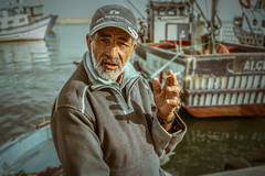 Fisher man (amine.lens) Tags: fisherman fishboat fishery fisher algiers prtrait colorgrading