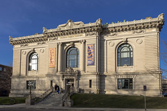 Grand Rapids Public Library (DJ Wolfman) Tags: grandrapids grandrapidsmi grandrapidspubliclibrary blue sky architecture olympus olympusomd em1markii 12100mmf4zuiko micro43 zd