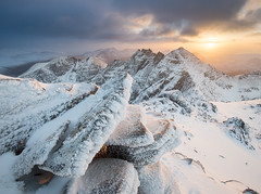 An Teallach (Uldis K) Tags: anteallach sgurrfiona rocks mountain mountains scotland scottish winter highland hiking sunset landscape munro corragbuidhe